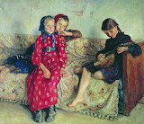 Nikolai Bogdanov-Belskiy, Country Friends, 1912