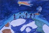 Giotto/Halley's Comet Children's Art, HQ-PHOTO-1986.X.22.1-11