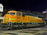 BNSF 8257 night time