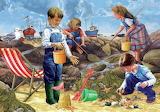 Niños recogiendo basura @doll28
