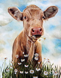 Cow with Dasies