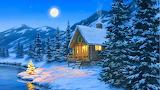 wintry cabin