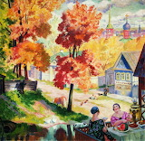 Boris Kustodiev Autumn