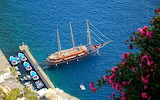 Tall Sailing Ship in the Aegean Sea Santorini Greece