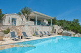 Pretty modern stone Mediterranean house and pool