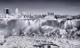 Niagra Falls partially frozen