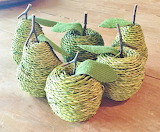 ^ Textured apples and pears