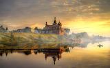 Volkhov Nicholas Monastery lake sunset