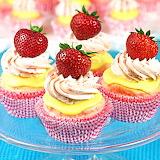 Sweet Strawberry Cakes...