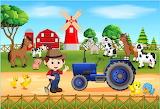 Boer en tractor