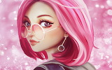 Fantasy Girl with pink hair
