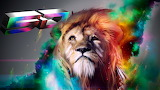Lions-colorful