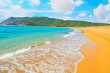 orange beach landscape