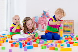 Children, colorful, toy, blocks, playing, girl, boy, baby, kids