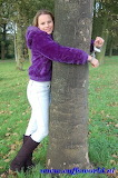 Girl attached in a tree