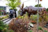 Train and Moose at Gage Park, Hamilton Canada