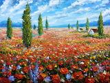 Valery Rybakou FIELD OF FLOWERS