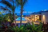modern coastal villa and pool
