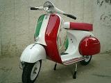 ^ Vespa Colors of Italian Flag