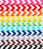 #Rainbow Herringbone Fabrics