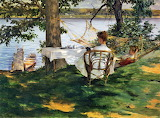 Irving Wiles, Afternoon Tea on the Terrace, 1889