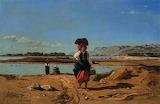 Laundresses By The Durance. Paul Guigou 1867