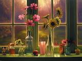 Flowers in Morning Window