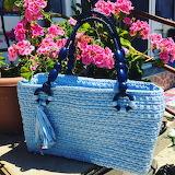 Hand made purse flora