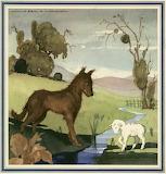 Le loup et l'agneau menu M IV 615