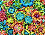 poly clay flowers, Carol Simmons