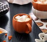 ^ Pumpkin Stoneware Mugs