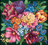 Needlepoint flowers