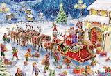 Colours-colorful-santa-elves-gifts-reindeer-sleigh-christmas-tre