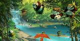 Pandas Playing Kung Fu Panda 3