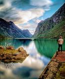 Lago montañas444