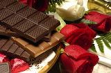 Dark chocolate and roses
