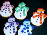 Rainbow snowmen @La Strega del Cioccolato