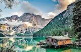 Lago di Braies-Bolzano-Italia