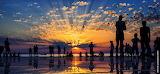"Sunset over the instalation""Hello to the sun"",Zadar,Croatia 2"