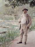 Claude Monet in His Garden