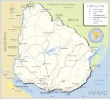 Uruguay Kaart
