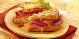^ Salami, cheddar, red sweet onion panini