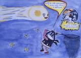 Giotto/Halley's Comet Children's Art, HQ-PHOTO-1986.X.22.1-4