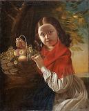 """Ivan Khrutsky """"Girl with fruits"""""""