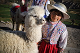 girl with lama