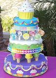 Candyland cake @ Cake central