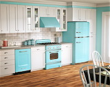 Aqua retro kitchen