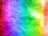 Rainbow scratched wall