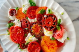 ^ Beautiful Caprese Salad
