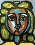Head of a woman with green curls, 1946, Pablo Picasso